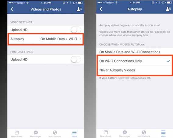 Como reduzir o consumo de dados do Facebook