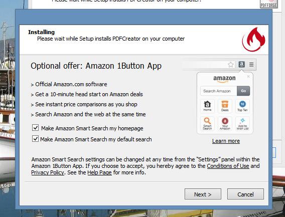 PDFCreator - Adware na instalação
