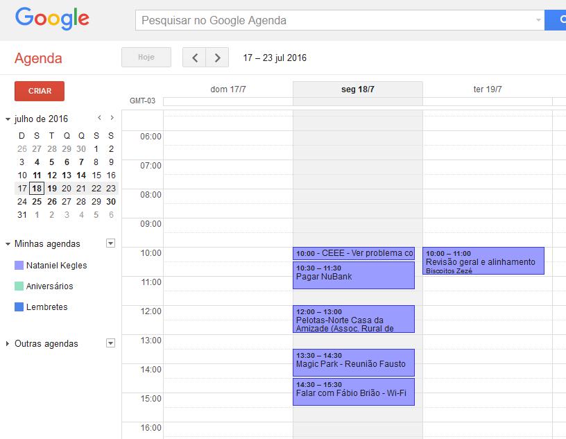 Ferramentas para organizar o seu dia (Google Calendar)